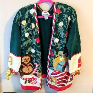 Vintage Ugly Sweater Large Bells Beading Garland